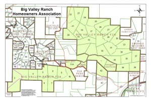 Big Valley Ranch plat map