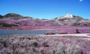 Hahn's Peak and Steamboat Lake in spring