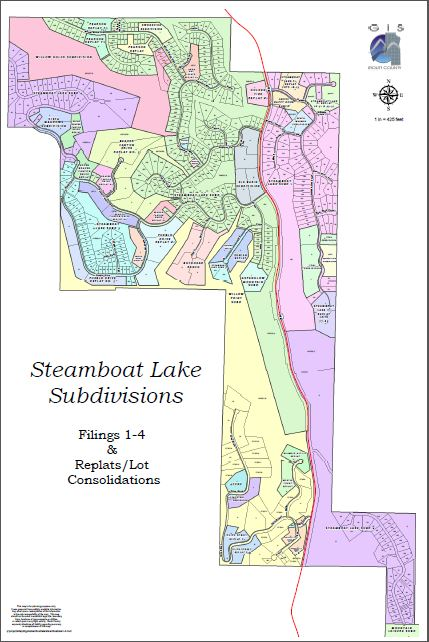 Click to enlarge the Steamboat Lake Subdivision Map