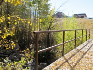 Bridge across Fish Creek at Barn Village