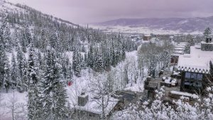 View of Right O Way Ski Run from Trails Edge, a ski in, ski out area of Steamboat Springs
